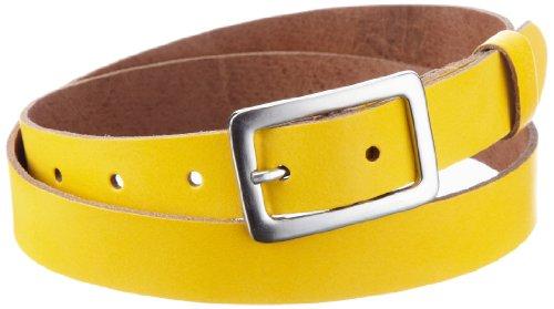 Cinturón amarillo para mujer, talla 105 cm