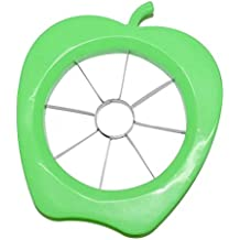 Coscelia Multi-fonction Acier Inoxydable Coupe-fruits Couper la Pomme avec 8 Lames Vert