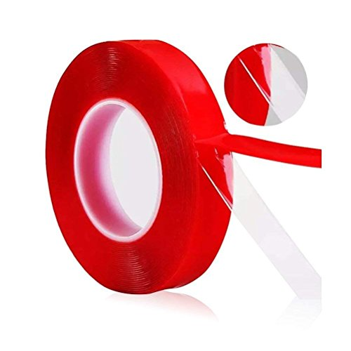 H.Yue Adhesive 15MM High Strength Double Sided Acrylic Foam Adhesive Tape Transparent Clear Car (5M)