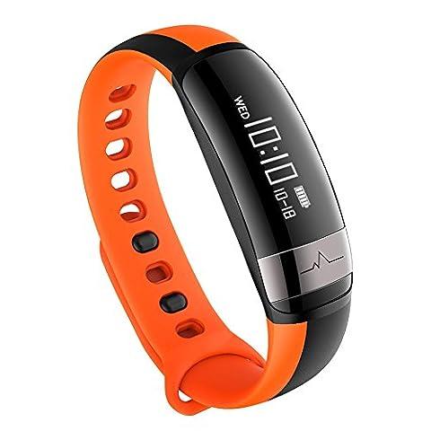 Bluetooth Smart Bracelet M6 Heart Rate Monitor Wristband Waterproof Pedometer Smart Bracelet Watch Lanspo (E)