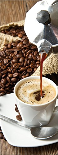 artissimo, Glasbild, 30x80cm, AG8912A, I love Coffee II, Küchenbild, Kaffee, Bild aus Glas, moderne Wanddekoration aus Glas, Wandbild Wohnzimmer modern