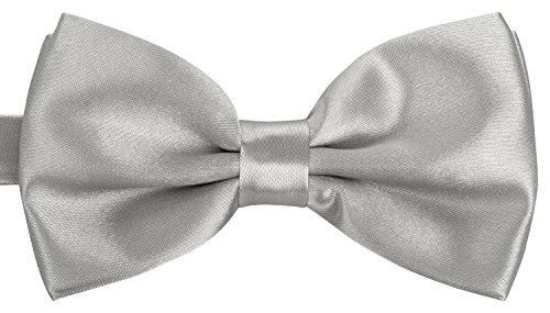 Herren silber I Männer Fliege für Hochzeit, Party oder edele Anlässe I Trendy Bow Tie I Herrenfliege ()