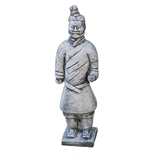 gartendekoparadies.de Kleiner chinesischer Terrakotta Krieger Motiv I von IV aus Steinguss frostfest