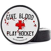 Scallywag® Disco de Hockey sobre Hielo I Puck Style Give Blood Play Hockey I una colaboracion de BRAYCE