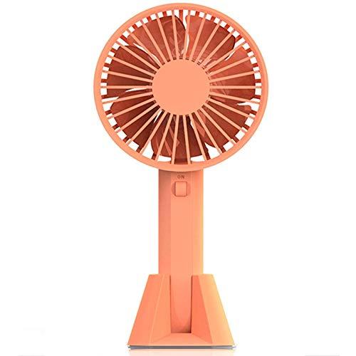 xinrongqu USB-Ventilator mit 3 Geschwindigkeit 2000mAh wiederaufladbaren tragbaren Lüfter Orange -