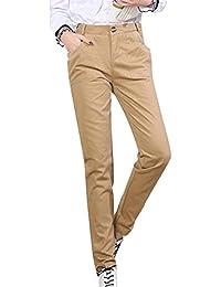 Pantalones Lápiz Mujer Otoño De Primavera Alta Cintura Pantalones Elegantes  Moda Casual Pants Festivo Color Sólido d464ef6724e0