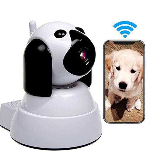 Ip Kamera, 720p ÜBerwachungskamera Babyphone HD WiFi, Haustier Kamera, Mit Bewegungserkennung, Nachtsicht, Zwei Wege Audio, UnterstüTzt Fernalarm, SD-Card Und Cloud-Speicher,White -