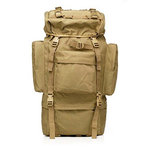 65l zaino da assalto zaino militare Gear grande sport outdoor molle tattico borsa per caccia campeggio trekking viaggio, Jungle Camo Tan