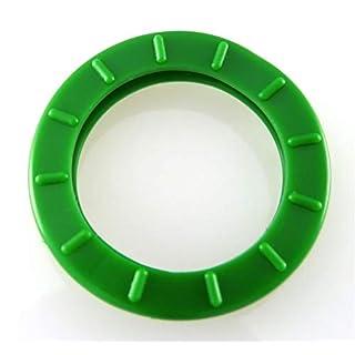 Schlüsselkennringe rund 28mm Durchmesser - dunkelgrün - 10 Stück - einzeln als 5er oder als 10er Set bestellbar - für runde Schlüsselköpfe, mit Tastzeichen, Schlüsselkappe, bunt