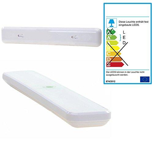 Touch Leuchte - batteriebetrieben, ideal als Zusatzbeleuchtung für Leseecke, Küchenschrank oder Wickeltisch, leichte Montage durch Klebestreifen oder Schrauben möglich, Energieeffizienzklasse A+