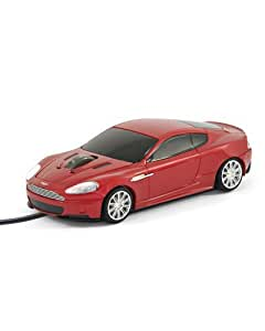 Souris voiture Aston Martin DBS Rouge