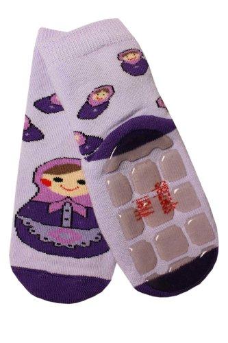 Weri Spezials Baby Voll-ABS Socke Matrjoschka Motiv in Flieder Gr.19-22 (12-24 Monate)