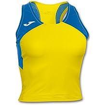 Joma Record II, Camiseta sin Mangas para Mujer, Amarillo 907, S