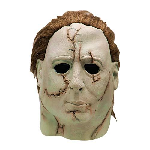 Cosplay Michael Myers Schmelz Gesicht Overhead Latex Kostüm Prop Scary Maske Spielzeug (Essen Kostüm Für Hunde)