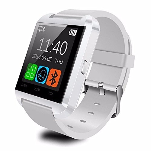 OPTA SW-004 White Bluetooth Smart Watch Phone Touch Screen Multilanguage Android/IOS Mobile Phone Wrist Watch Phone Mate compatible with Samsung IPhone HTC Intex Vivo Mi One Plus and many others! Launch Offer!!
