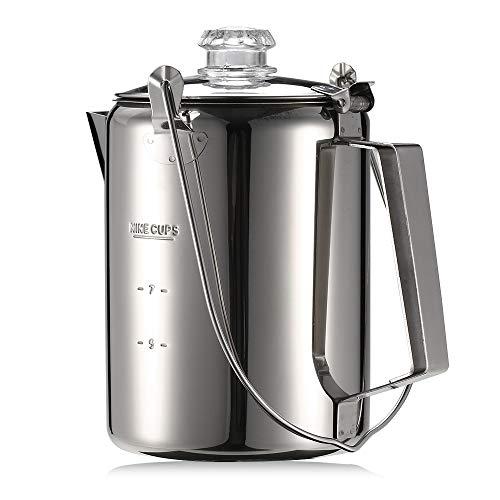 Explopur Draussen 9 Cup Edelstahl Kaffeemaschine Kaffeemaschine für Camping Home Küche