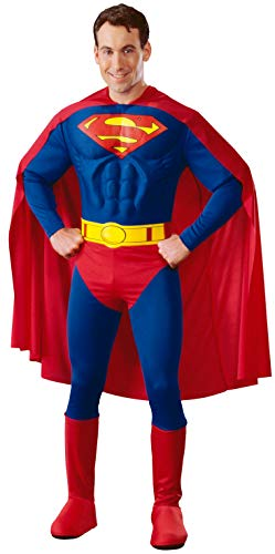 Rubie's 3888016 - Superman Muscle Chest Adult, M, blau/rot (Superman Muskel Kostüm Herren)