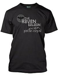 Bathroom Wall Raiders of The Lost Ark Inspired Indiana Jones Raven, Men's T-Shirt