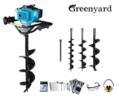 Ahoyadora Taladro a Gasolina con motor de 2 tiempos Greenyard