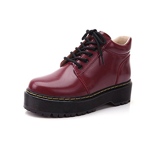 Bottes de Martin/ botte vent d'Angleterre/Chaussures talons chunky/Chaussures lacées A