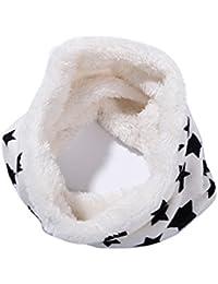 ZUMUii Butterme Forro Polar de Felpa Unisex de Invierno Forro Polar Pañuelo  de Cuello Estrella Bufanda f6baa55edf7
