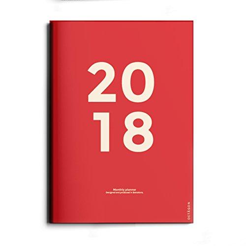 Octagon Design 2018Monatsplaner (Terminkalender Recycelt)