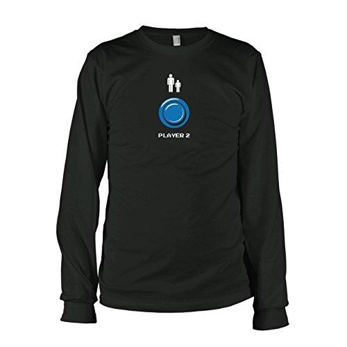 TEXLAB - Player 2 - Langarm T-Shirt Schwarz