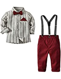 Bebés de Ropa Encantadora, YpingLonk Rayas Juego de Ropa Camisas y Pantalones Camiseta para Niños Sudadera de Recién Nacido Aprendiendo a Caminar (12 Meses-5 Años) Primavera y Otoño