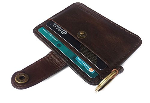 Chalk Factory Genuine Leather Credit Card Case with Multiple Card case