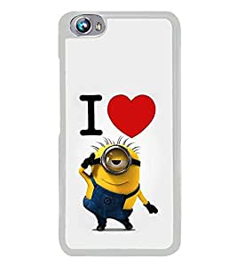 Popular Cartoon Character 2D Hard Polycarbonate Designer Back Case Cover for Micromax Canvas Fire 4 A107