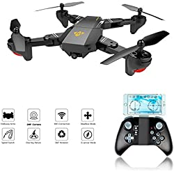 XS809W Foldable RC Quadcopter with Altitude Hold FPV VR Wifi Wide-angle 720P 2MP HD Camera 2.4GHz 6-Axis Gyro Remote Control XS809HW Drone(XS809W drone)
