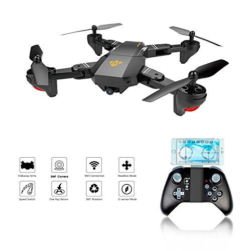 XS809W Faltbarer RC Quadcopter mit Höhenhaltung FPV VR Wifi Weitwinkel 720P 2MP HD Kamera 2.4GHz 6-Achsen Gyro Fernsteuerungs