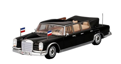 True Scale Miniaturen tsm154342Mercedes-Benz 600Pullman laudelet 6Türen-Josip Broz Tito-Maßstab 1/43, Schwarz