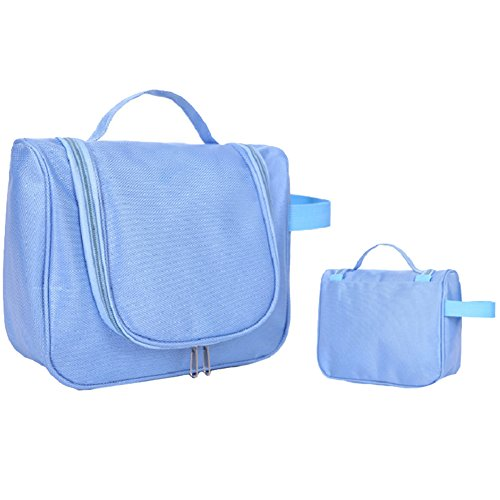 Reise Aufbewahrungstasche Multifunktions Kann Gehängt Werden Große Kapazität Oxford Tuch Tasche Kosmetiktasche Tragbare Waschbeutel, 1PC Blue