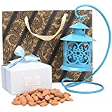 Festive Gifting Hanging Metal Candle Stand/ Paper Box/ Paper Bag/ Almonds/ Chocolates Luxury Hamper/Combo Gift For Festivals/ Diwali Gift/ Corporate Gift/ Wedding Gift.