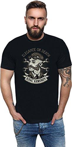 King Kerosin Elegance or Death Regular T-Shirt Schwarz Oldschool British Screws Schraubenschlüssel XL