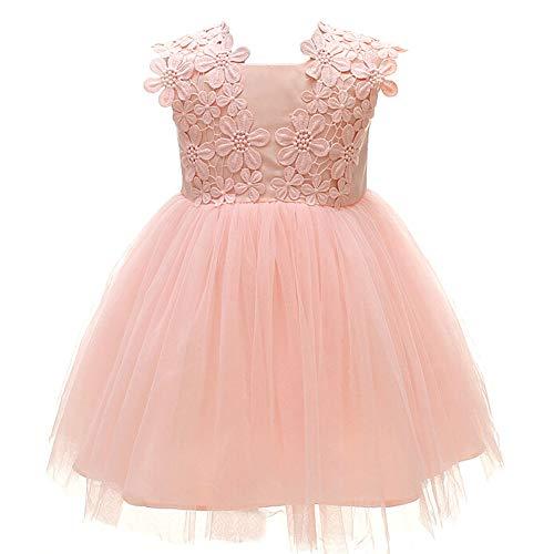 Monimo Baby Mädchen Prinzessin Kleid Taufkleid Festlich Kleid Hochzeit Partykleid Festzug Babybekleidung