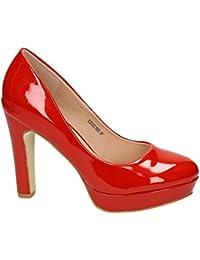 845ecbc5bad3b4 Klassische Damen Lack Pumps Stilettos High Heels Plateau Abend Schuhe  Bequem 22