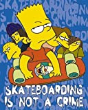 Elite Die Simpsons Bart Skateboard Regular TV Cartoon Poster, 40 x 50 cm