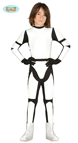 schwarzer Ganzkörperanzug Fasching Soldaten Trupp Kostüm Sternenkrieger Kinder Sturm Gr. 110-152, (Sturm Kostüm Halloween Soldat)