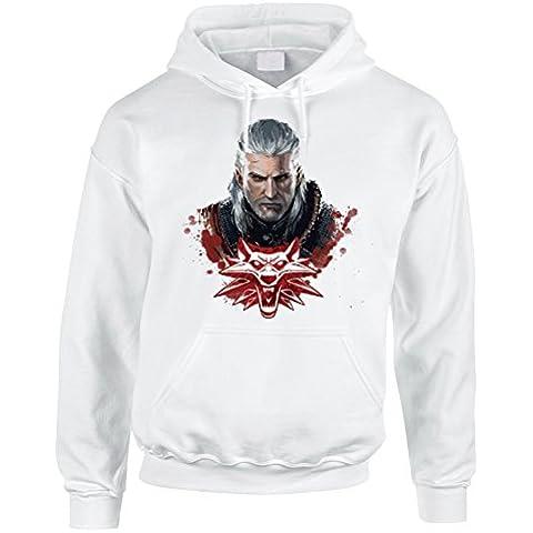 Felpa con cappuccio Geralt di Rivia Witcher- video game - in cotone by Fashwork