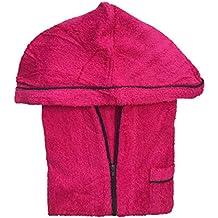 Lady Bella lencería Albornoz para Mujer con Capucha Rizo de Algodón Puro, práctica Cierre con