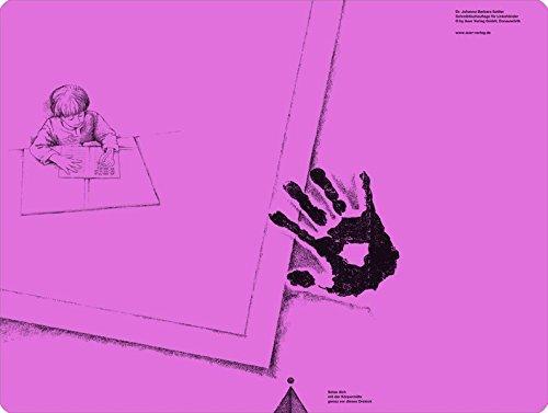 Schreibtischauflage für Linkshänder - Pink: Alle Klassenstufen (Linkshändigkeit)