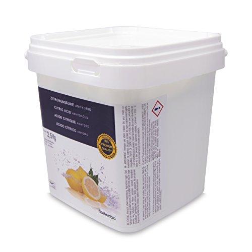 comprare on line Acido Citrico 2.5 kg, Qualità Premium, Polvere Anidro, Pure e Naturale, NortemBio per la produzione ecologico. Sviluppato in Italia. prezzo