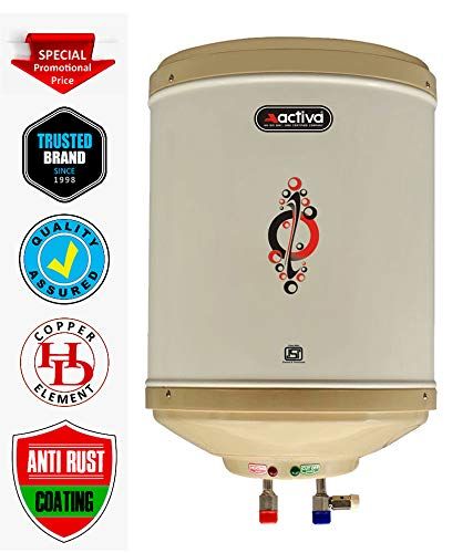 Activa 6 L Instant 3 Kva 5 Star Geyser with ABS Top Bottom (Ivory)