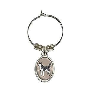 Husky de Sibérie–pour animal domestique Chien Verre à vin ovale Charm Boisson marqueur