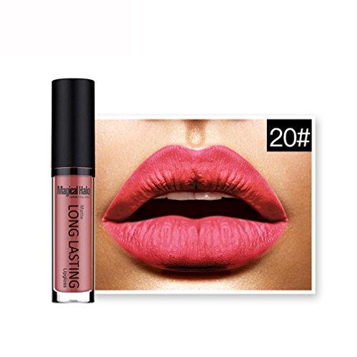 Rouges à lèvres,Covermason Imperméable à l'eau mate liquide rouge à lèvres longue durée Lip Gloss à lèvres (20#)