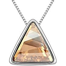 LYJBIK Las Mujeres De La Alta Calidad De Cristal Triangular Aleación Pendiente Del Collar De Brillantes,B
