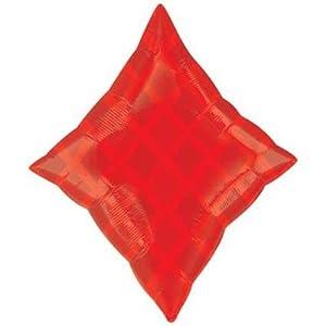 amscan 1587001 - Globos de Papel de Aluminio con Forma de Diamante, 48,26 x 60,96 cm