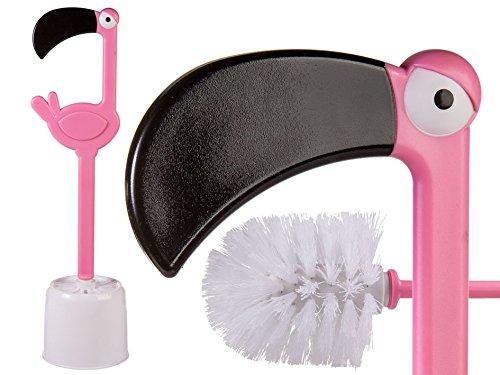 OOTB Pinkfarbene Kunststoff-Toilettenbürste, Flamingo, Pink, 12.5 x 12.5 x 47.5 cm